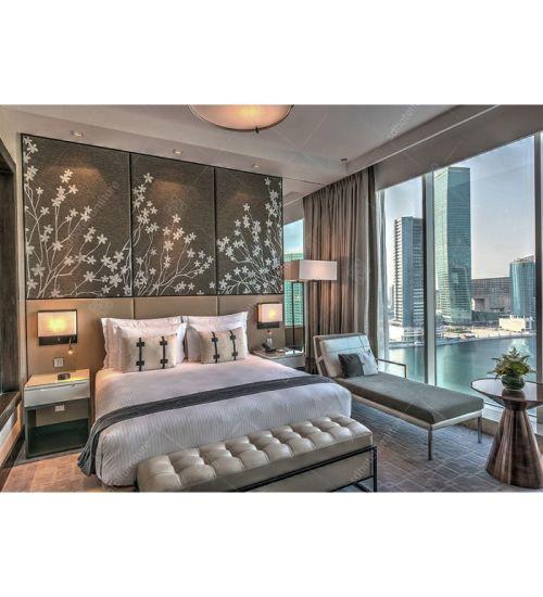 современный отель из дуба деревянной мебели для спальни с гостиной 5 звезд Fl 04
