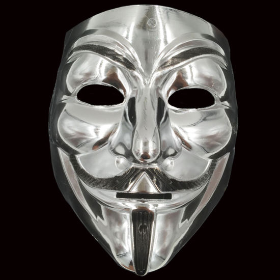 Anonymous Guy Fawkes Mask Mask Party Cosplay New Exclusive All Black /& White V for Vendetta Mask Black