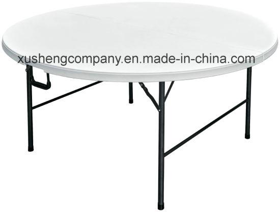 Chine Table Ronde De Pliage En Plastique Single Piece Avec Acier