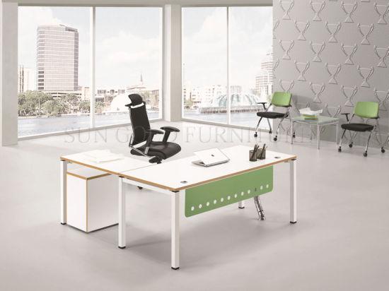 Modernos Muebles de oficina escritorio mesa de madera para oficina Diseño  (SZ-ODB353)