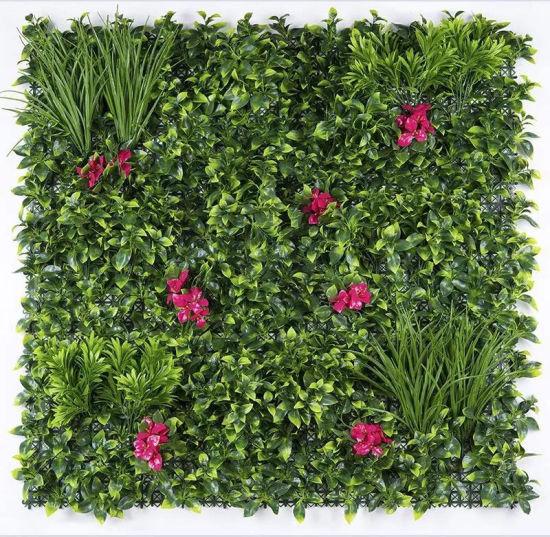 Protection contre les UV à l\'extérieur du feuillage de plantes vertes  feuilles artificielles haie Jardin Vertical mur de clôture de la vie privée