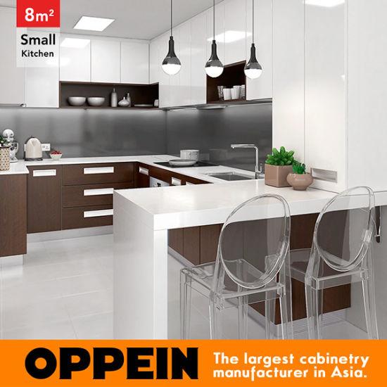 8 metri quadri cucina di stile moderno a forma di U di piccola (OP16-HPL05)