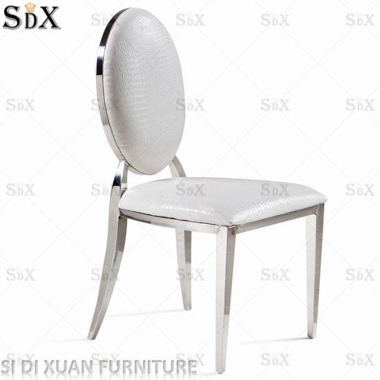 Chine Salle à Manger Moderne Blanc Dos Arrondi Chaises Avec