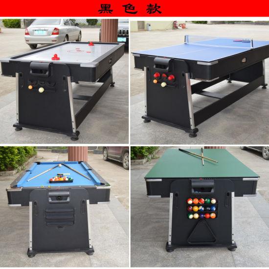Nuevo estilo 4 en 1 mesa de billar y ping-pong y mesa de comedor/Air Hockey  mesa