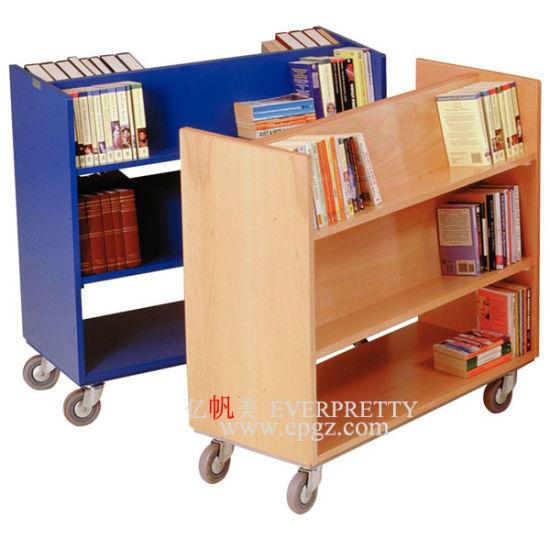 Le Mobilier Scolaire Bibliotheque Chariot Mobile En Bois Pour Le Livre