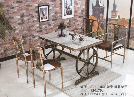 China Diseño clásico Restaurante Restaurante antigua mesa de ...
