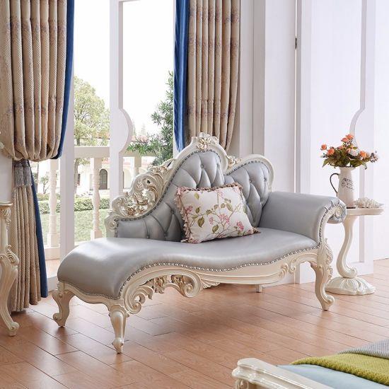 Chine Chaise en cuir classique en bois sculpté avec salon ...
