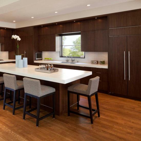 2018 La Prima de muebles de cocina americana de arce de madera sólida  mueble de cocina