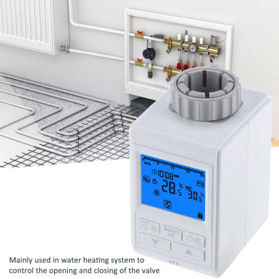 Actionneur thermostatique électronique programmable de valve de TRV pour le