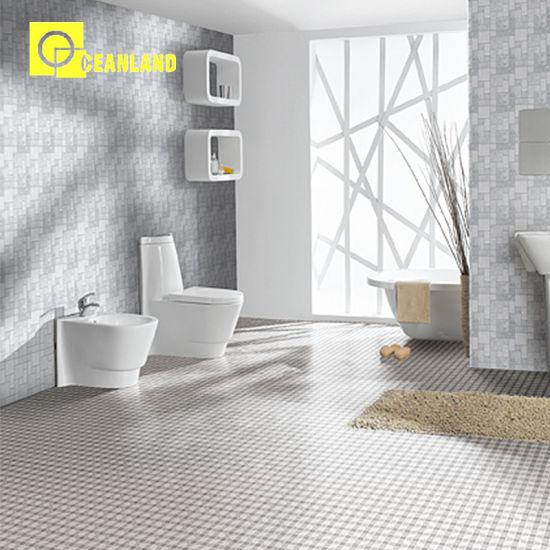 China Badezimmer-Fliese-weißes Marmormosaik der Küche-30X30 ...