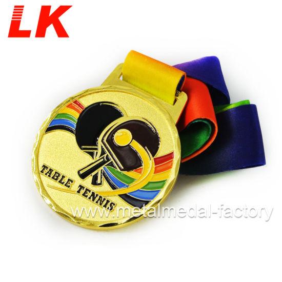 Emblems-Gifts Achet/ée personnalis/é de Tennis de Table Award M/édaille avec Ruban