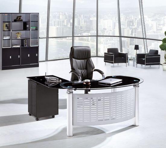 Tabla de la Oficina de cristal mesa ejecutiva de la oficina 2019 de nuevo  diseño de vidrio templado de alta calidad de escritorio moderno mobiliario  ...