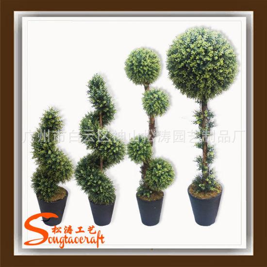 Piante Di Plastica Prezzi.Piante Artificiali Del Topiary Dell Albero A Spirale Conservato In Vaso Sempreverde Di Plastica Poco Costoso Di Prezzi