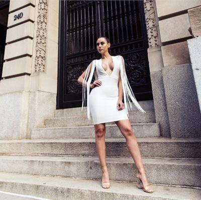 China Moda Vestido Blanco Vestido Sexy Vestido De Cuello En
