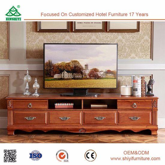 La salle de séjour Meubles images Nouveau Modèle de table en bois de  conception TV avec vitrine