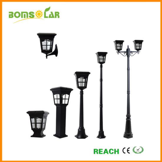 La colonne d\'éclairage solaire en aluminium/ lampe solaire Post/ Jardin  lumière LED solaire/ dispositif de lumière solaire extérieur/mur solaire ...