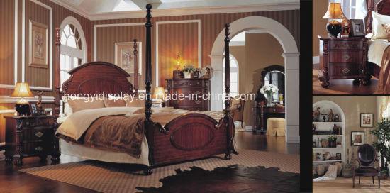 La mobilia di legno della camera da letto di cerimonia nuziale intagliata  portello europeo francese antico bianco di stile 3 copre il Governo