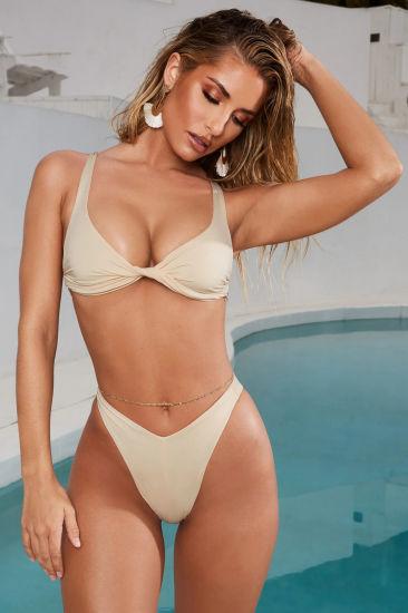Tanga De Corte Alto Mujer Sexy Traje De Baño Caliente Lace Up Bikini Chicas