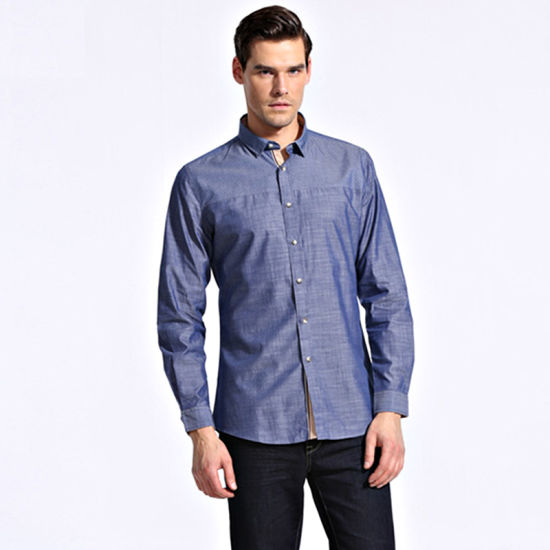 China 2016 Camisa de vestir para hombres nueva modaDiseño