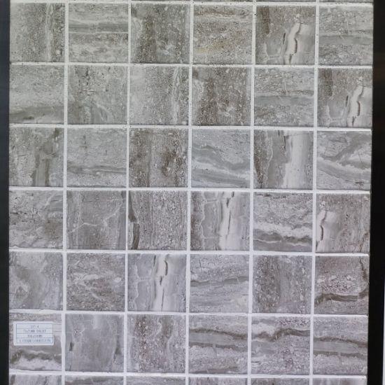 Hot Sale Nouveau design mosaïque en céramique de pierre grise jet d\'encre  pour la chambre, salle de bains, cuisine dosseret