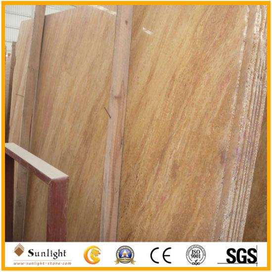 Chine Golden travertin pour l\'Étage/mur/Salle de bains ...