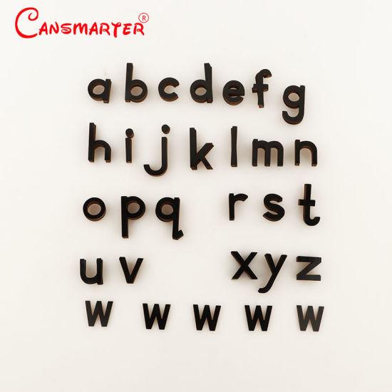 China Pequeno Alfabeto Movel Imprimir Preto Montessori
