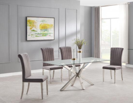 China Muebles de comedor de cristal de diseño moderno y ...