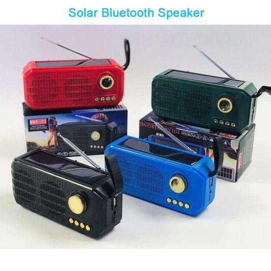 China Mini Portátil Solar La Tecnología Inalámbrica Bluetooth Estéreo Amplificador De Audio Altavoz De Sonido Con Radio Fm Comprar Altavoz Bluetooth En Es Made In China Com