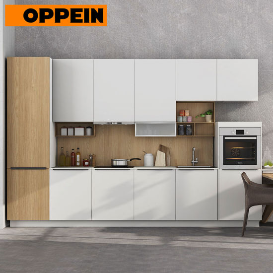 Laca blanca 360cm armario cocina modular estándar (OP17-PVC05).