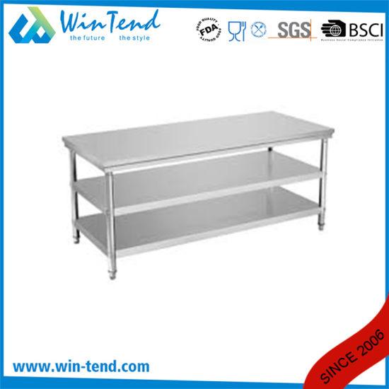 China Cocina comercial mesa de trabajo de acero inoxidable ...