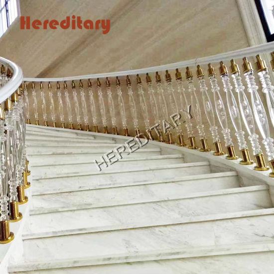 China El Aluminio Vidrio Acrílico Pasamanos Para Escaleras
