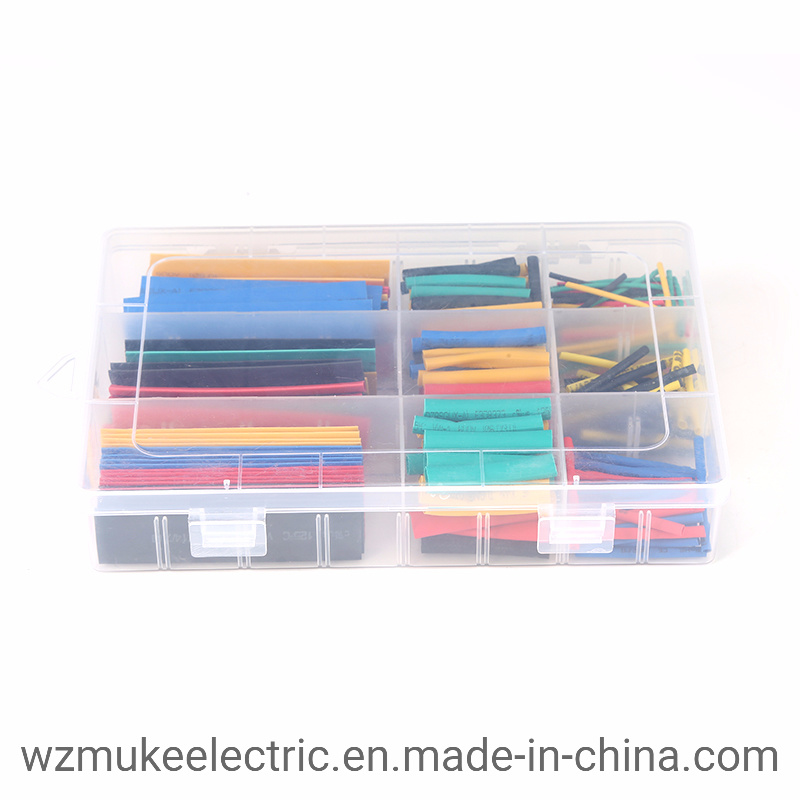 8Size Heatshrink Heat Shrink Tube Black Insulation Sleeves Wire Wrap Cable Kit