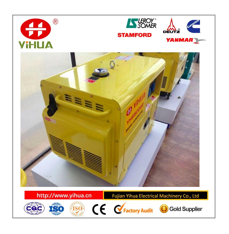 5KW Small Diesel Generator Fujian Yihua Electrical Machinery Co