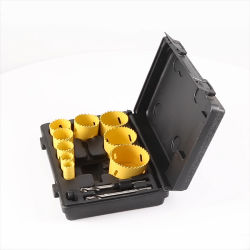 2-1//8/'/' HCS Hole Saw Kit for Wood PVC Board Plastic Plate Drilling Yellow