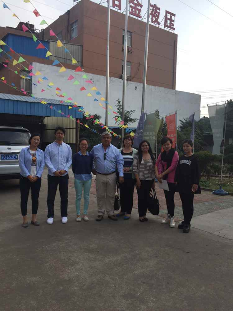 Customers from Chile visiting ECOHYDRAULIC in oct.22th 2015