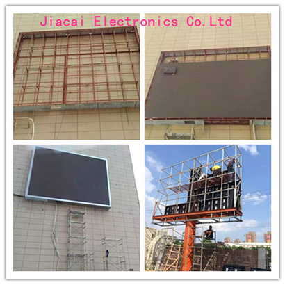The installation of outdoor led display