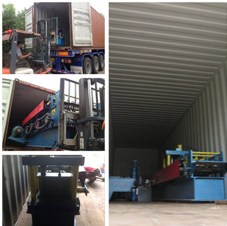 Loading one Door Frame Machine to Zambia