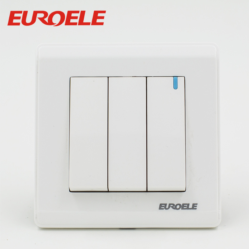 PC white color wall switch