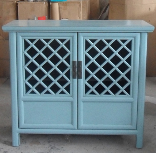 Antique furniture cabinet with two doors