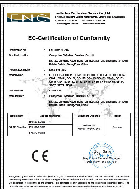 Certification of Conformtity