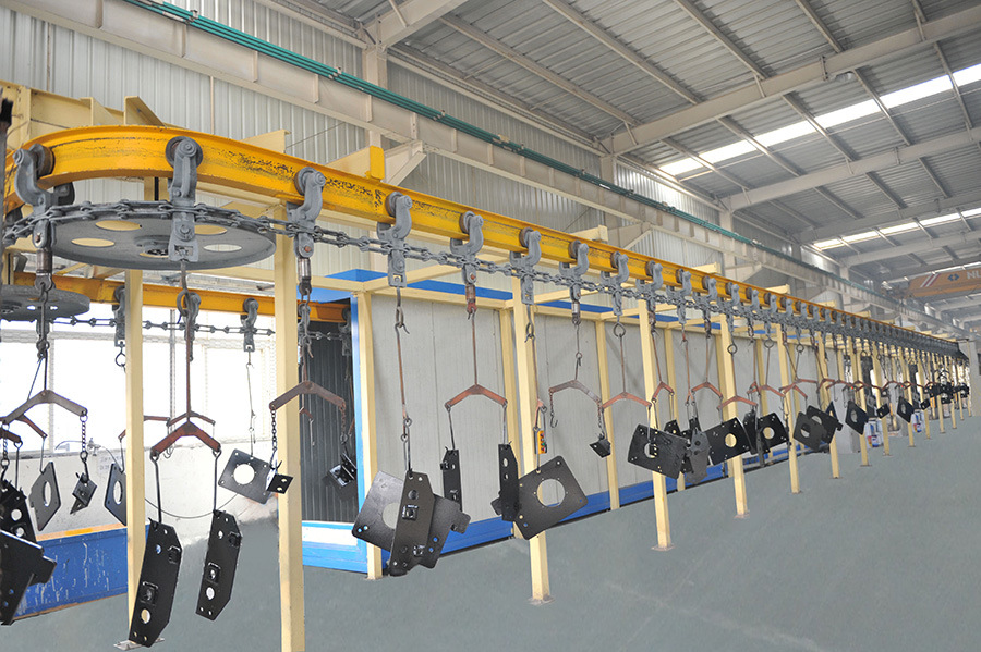 Machinery fabricated components painting and dry line