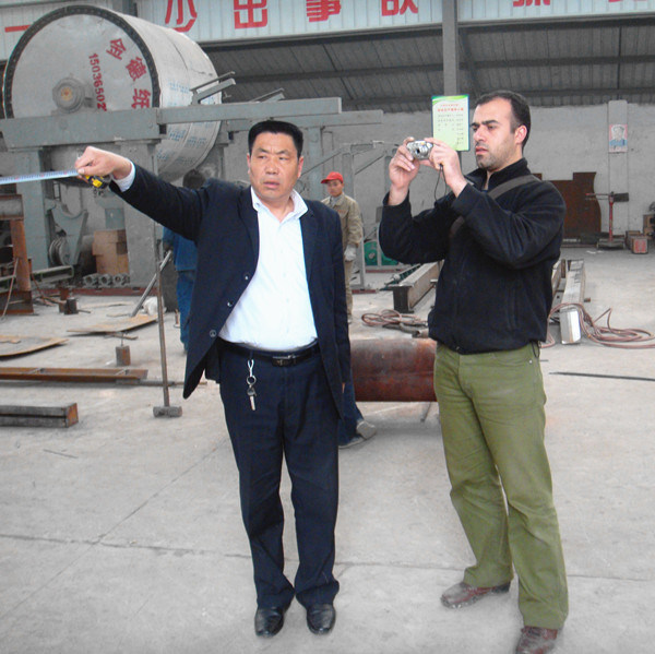 Syria client visiting our factory