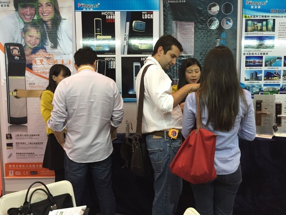 2014 Guangzhou hotel suppiler exhibition customer