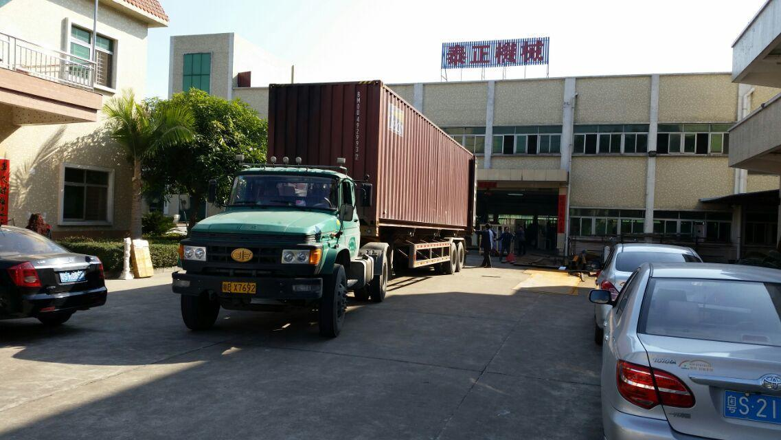 Container exported to South Africa with cable extrusion production line
