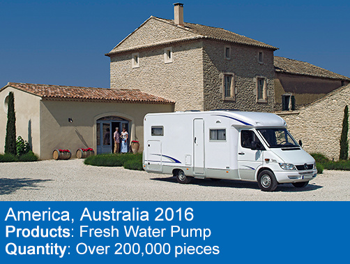 in 2016, we have accepted custom manufacturing orders for RV and Camping usage from America.