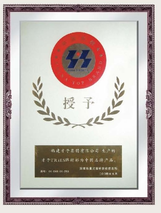 China Top Brand Certificate