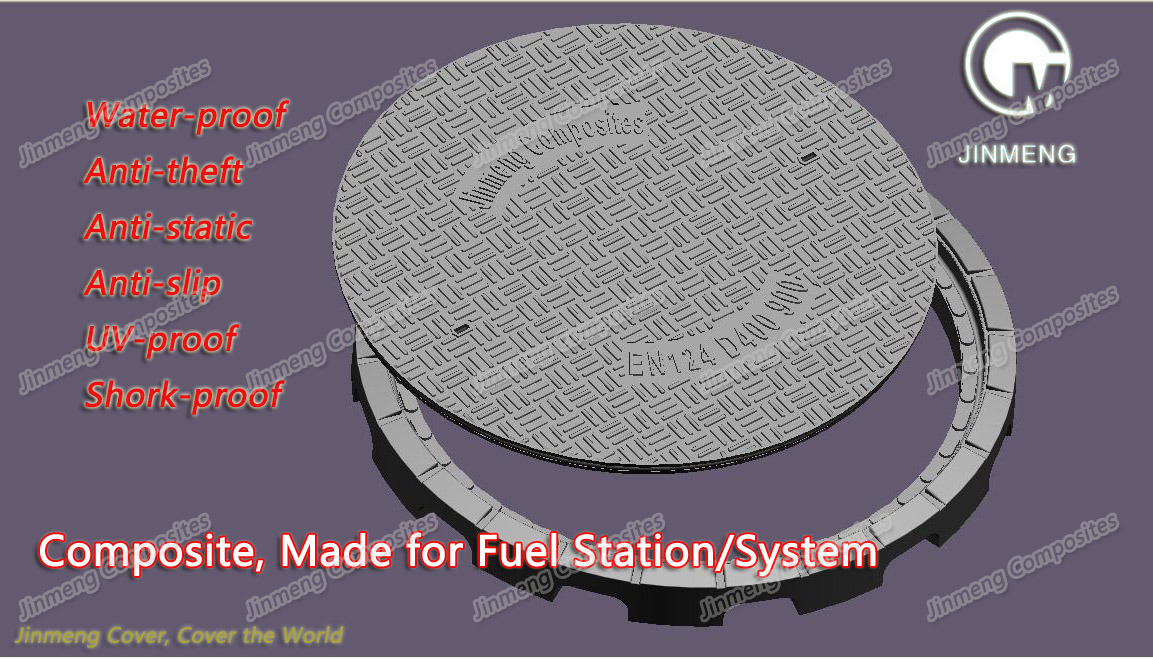 Jinmeng NEW PRODUCT for petrol station Composite Manhole Cover is ready