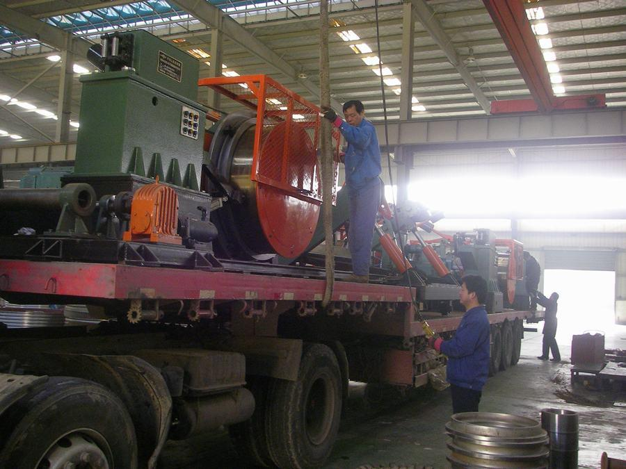 Shipment of trolley wire drawing machine
