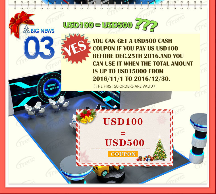 Virtual Reality Simulator Christmas Promotion (THREE)
