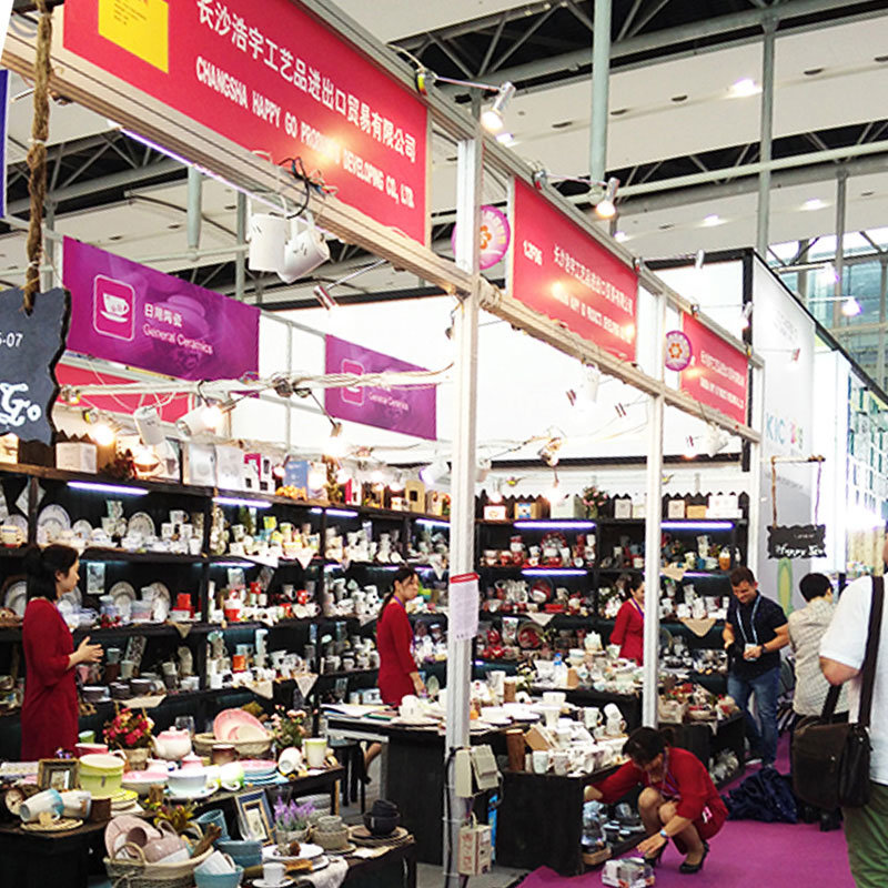 2016 April Canton fair from April 23~27 from Changsha Happy Go Ceramic Tableware supplier